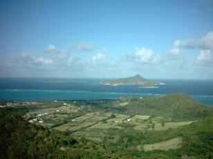 PM and PSV seen from Windward Carriacou.