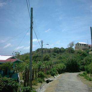 Hinking on Carriacou, Cassada bay road.
