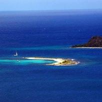 Sandy Island aerial view.