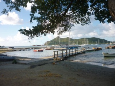 Jetty of the Slipway Restaurant in Tyrell Bay on Carriacou.