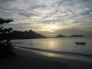 Paradise beach Carriacou sunset.