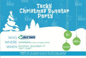 Savannah Jaycees Tacky Sweater Christmas Party