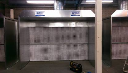 3 Phase Spray booth extraction system