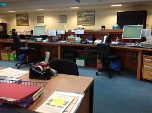 View from behind the Issue Desk