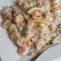 Prawns with Leeks and Lemon Pepper