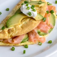 Salmon Avocado Omelet