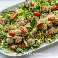 Chicken Meatball Salad
