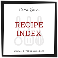 Recipe Index: Find the recipe you need here