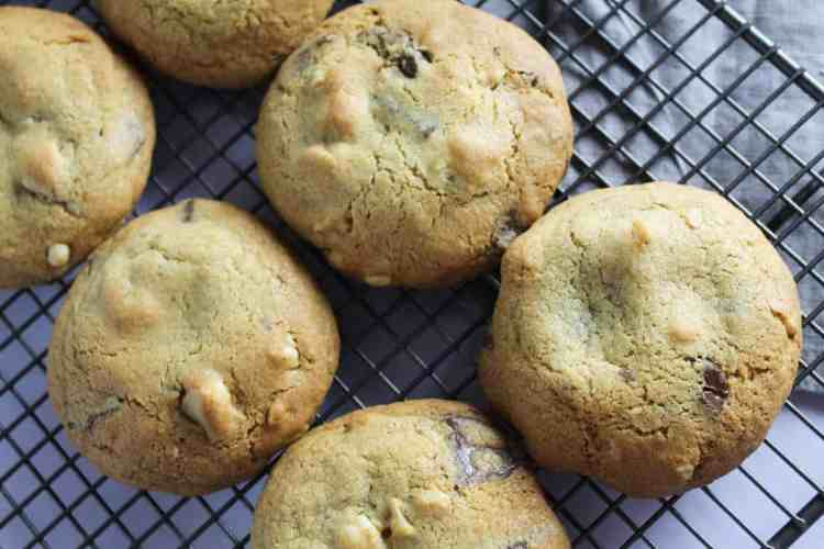 These thick and moreish chocolate and hazelnut cookies have the ultimate combo of semi-sweet chocolate, crunchy hazelnuts plus a hint of salt.