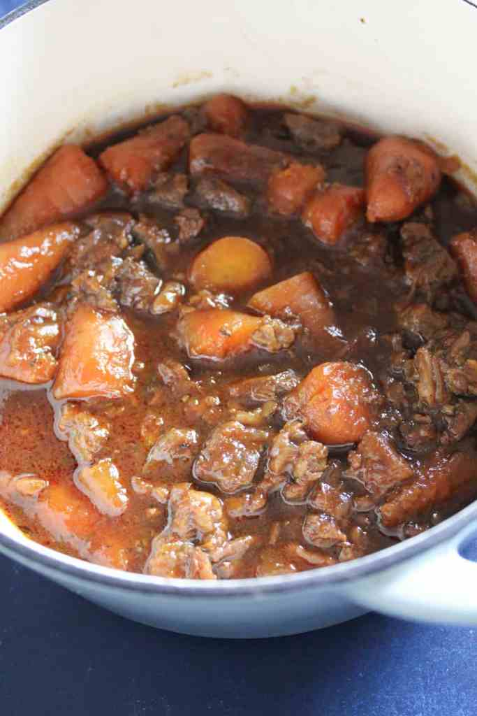 Slow cooked beef shin and ale stew