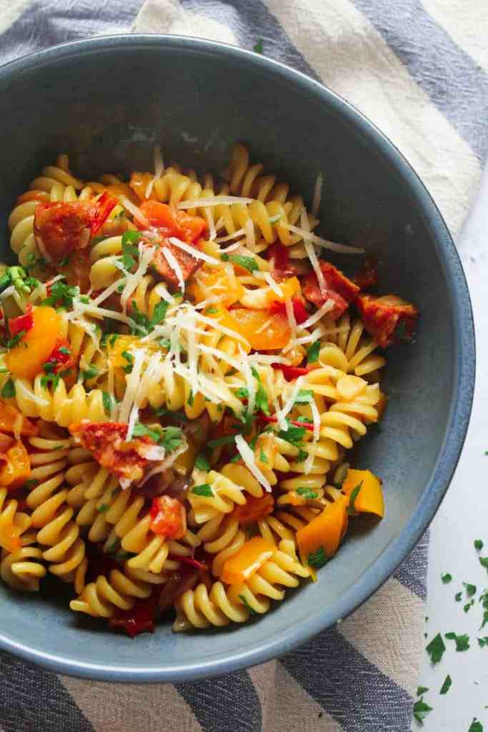 Chorizo Pepper Pasta