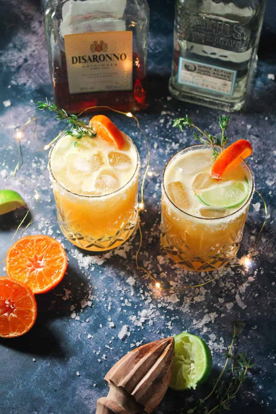 Amaretto Orange Margaritas - A Festive Cocktail