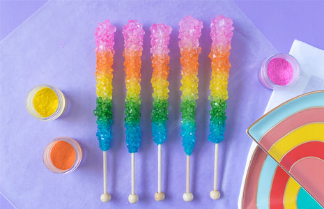 Makeover Your Candy How To Make Rainbow Rock Candy