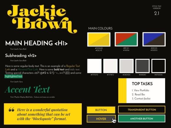 Jackie Brown - Style Tile