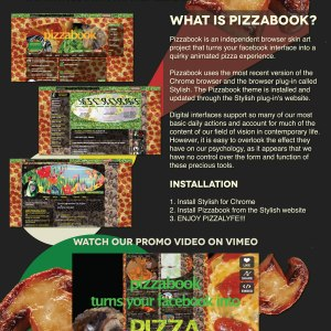 Pizzabook Promo Poster