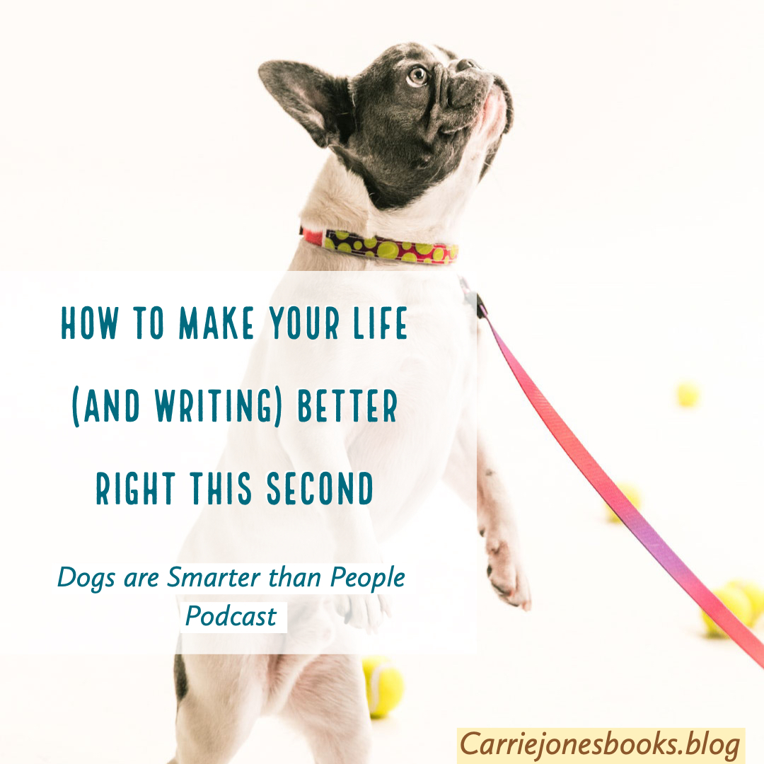 First Tip on How to Make Your Life and Writing Life Better – Dogs are Smarter than People Podcast.