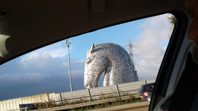 Kelpies sculpture, the Helix park, nr the M9