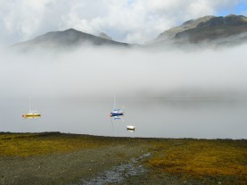 Loch Long, Arrochar, Argyll, from Seabank B&B - Ben Arthur tip visible