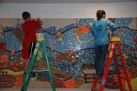 slinger middle school mosaic mural  june, 2009