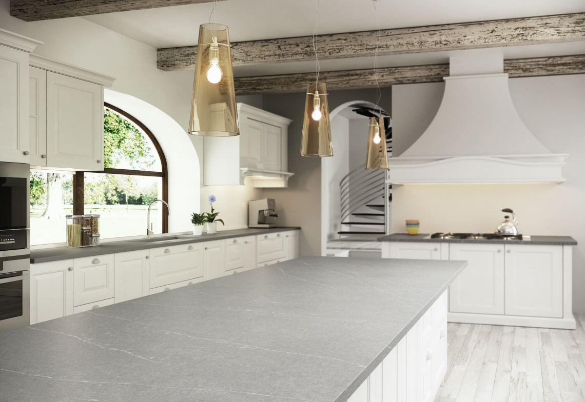 Plan de travail cuisine Quartz Silestone Eternal Serena