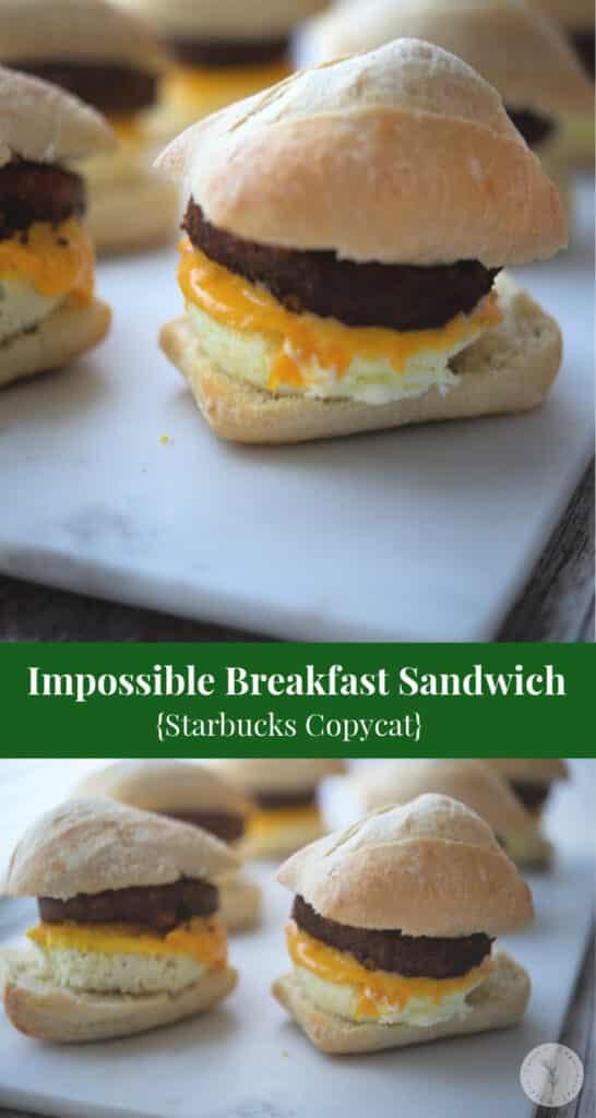 Starbucks Sausage Egg And Cheese Calories : starbucks, sausage, cheese, calories, Impossible, Breakfast, Sandwich, (Starbucks, Copycat)