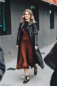 Milan_Fashion_Week_Fall_16-MFW-Street_Style-Collage_Vintage-Leather_Coat-Celine_Dress-Miu_Miu_Flats_Ballerinas-