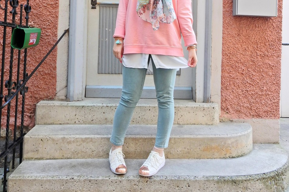 Adidas Metal Toe Sneakers carrieslifestyle blogger Mint Rosè