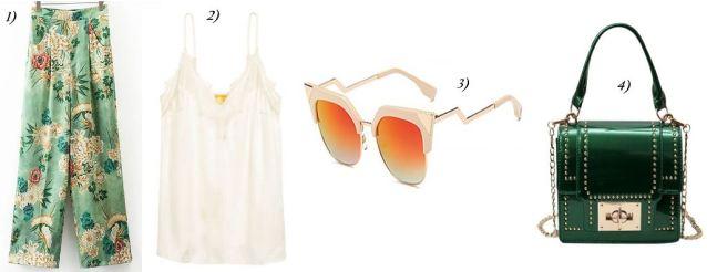 Flowerprint-Pants-Satintop-H&M-golden-Girl-Green-Bag-carrieslifestyle