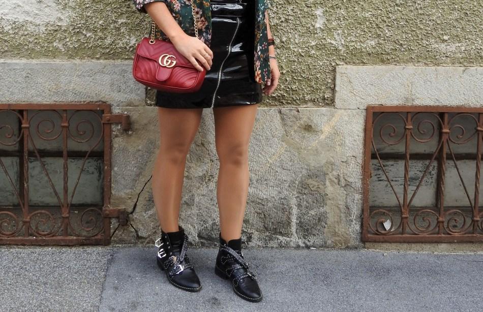 L'Occitane-Shop-Graz-Patent-Leather-Skirt-Jessica-Buurman-Boots-Studs-Gucci-Bag-Tasche-Floral-Print-Blazer-carrieslifestyle-Tamara-Prutsch