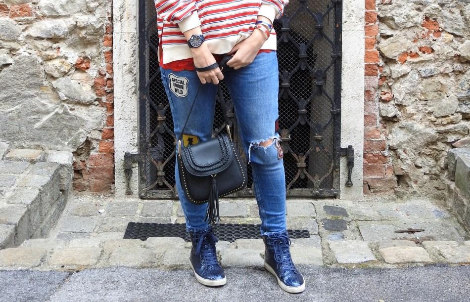 Querstreifen-Pulli-Stripes-Striped-Sweater-Bershka-Pullover-Sweater-Denim-Patches-Jeans-Chloe-Bag-Rot-Blau-Weiß-carrieslifestyle-Tamara-Prutsch