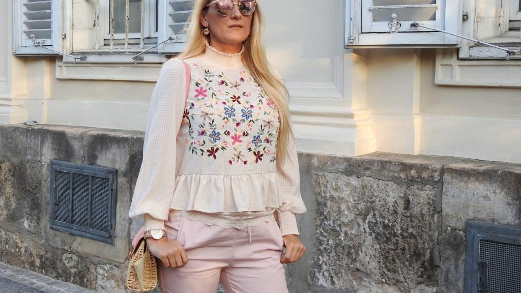 Floralprint-Blumenprints-Blouse-Pink-Pants-Schwangerschaft-Sunglasses-Dior-Shades-Metallic-Daniel-Wellinngton-Watch-Korbtasche-carrieslifestyle-Tamara-Prutsch