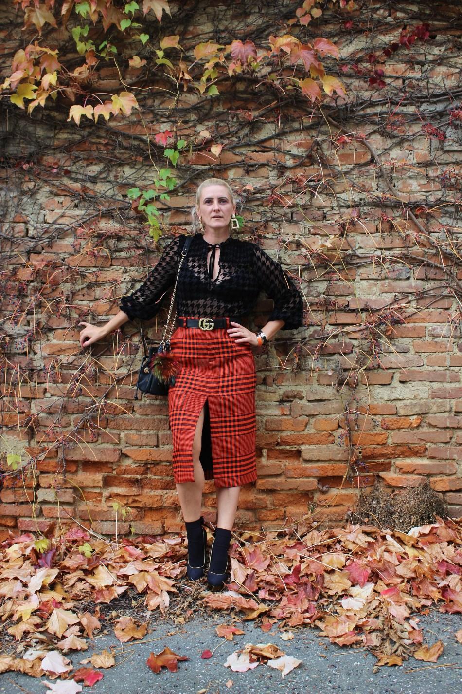 Karo-Pensilskirt-Charlotte-Olympia-Heels-Hahnentritt-Houndstooth-Muster-carrieslifestyle-Tamara-Prutsch-Gucci-Belt-Fashionsocks