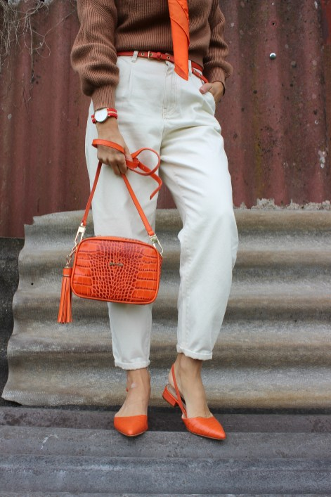 Trendfarbe-Orange-CCC Shoes and Bags-Sandalen-Tasche-carrieslifestyle-Tamara-Prutsch-trendblogger-Bloggerstyle