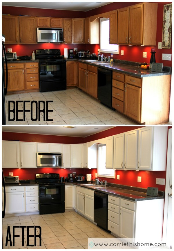 How Paint Kitchen Cabinets White