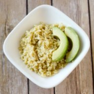 Healthy Seasoned Rice and Avocado