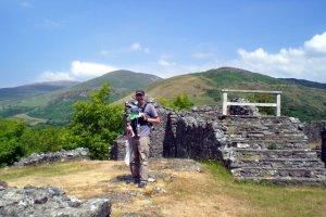 At Dolforwyn Castle