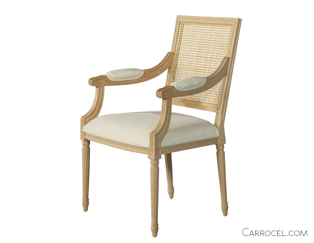 Cane Dining Chairs Louis Capet Custom Cane Dining Chair Arm Carrocel Fine