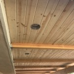 Outdoor Patio Cover With Recessed Lights And Stucco Columns Carroll Building Solutions