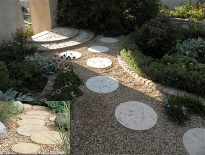 patio stones and moon stone