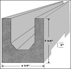 High Strength 8 Concrete Recessed Lintels  Carrolls