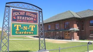NPRR Depot sign, Front St, Butte