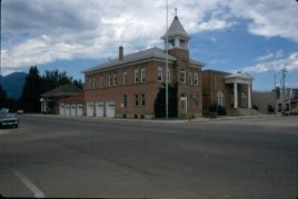 City Hall, Masonic Bldg, Library Hamilton Ravalli Co. MT