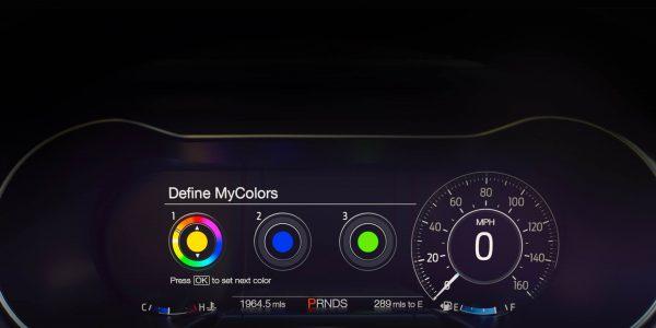 2018 Ford Mustang digital instrument cluster