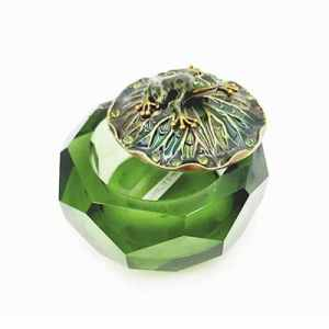 Alhajero de cristal verde