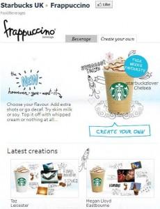 Starbucks UK Frappuccino app
