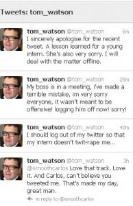 Tom Watson Twitter
