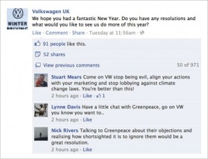 VW v Greebpeace on FB