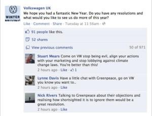 VW v Greebpeace on FB