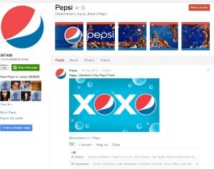 Pepsi G+ page