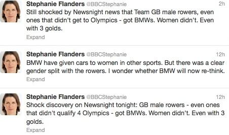 BMW sexism tweets